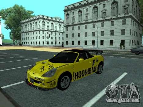 Toyota MR-S Tunable para GTA San Andreas vista hacia atrás