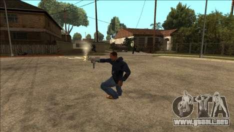 Animación adicional TEC-9 para GTA San Andreas segunda pantalla