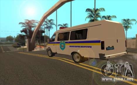 GAZelle 2705 Buscaminas Ucrania Fijo para GTA San Andreas left