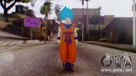 Goku SSJ God Blue (SSGSS) para GTA San Andreas segunda pantalla