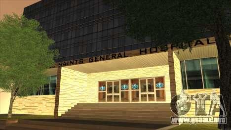 LSPD, All Saints Hospital & Skyscrapers 2016 para GTA San Andreas sucesivamente de pantalla