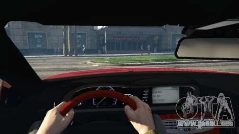 GTA 5 Mercedes-Benz E63 AMG v2.1 vista lateral trasera derecha