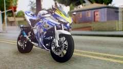 Yamaha YZF R-25 Kos-Mos Xenosaga Itasha 2014 para GTA San Andreas