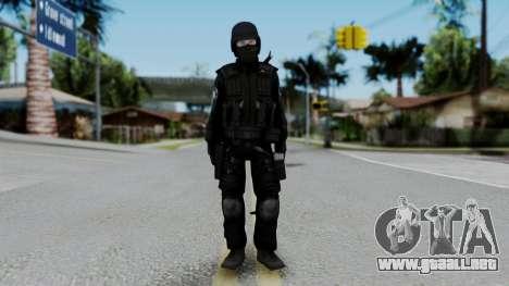 Regular SWAT para GTA San Andreas segunda pantalla