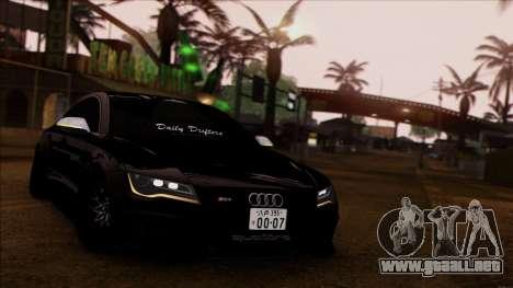 Audi RS7 Daily Drifters para GTA San Andreas vista posterior izquierda