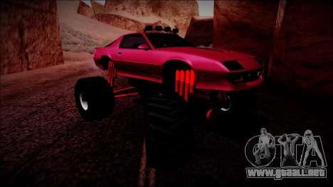 1990 Chevrolet Camaro IROC-Z Monster Truck para GTA San Andreas left