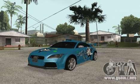 Audi TT-RS Tunable para GTA San Andreas vista hacia atrás