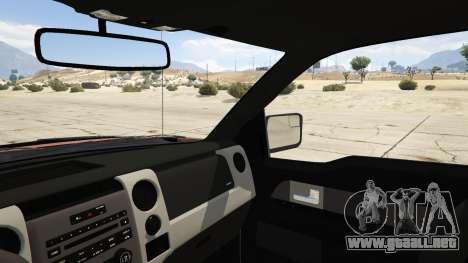 GTA 5 Ford Velociraptor 1500 hp vista lateral trasera derecha