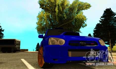 Subaru Impreza WRX STI Spec-C para GTA San Andreas vista hacia atrás