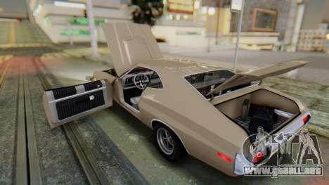 Ford Gran Torino Sport SportsRoof (63R) 1972 PJ2 para visión interna GTA San Andreas