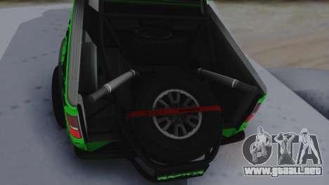 Ford F-150 SVT Raptor 2012 para GTA San Andreas vista hacia atrás
