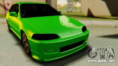 Honda Civic Vti 1994 V1.0 para la visión correcta GTA San Andreas