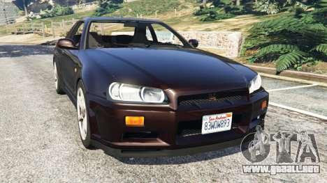 Nissan Skyline GT-R (R34) 1999 para GTA 5