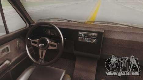 Volkswagen Caddy Military Vehicle para GTA San Andreas vista hacia atrás