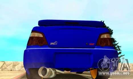 Subaru Impreza WRX STI Spec-C para la visión correcta GTA San Andreas