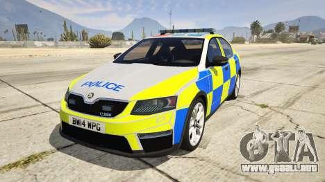 2014 Police Skoda Octavia VRS Hatchback para GTA 5