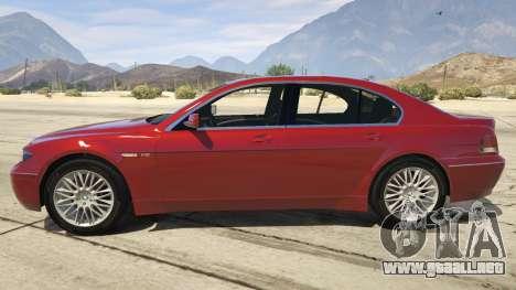 GTA 5 BMW 760i E65 vista lateral izquierda