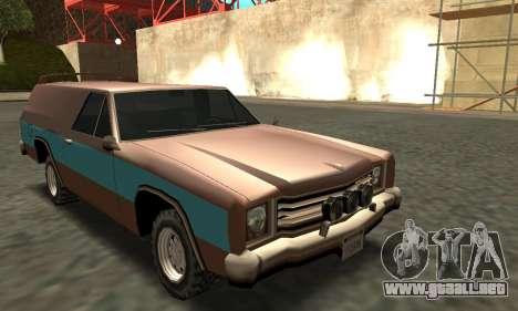 Picador Vagon Extreme para GTA San Andreas vista hacia atrás