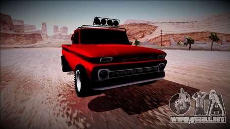 Chevrolet C10 Rusty Rebel para visión interna GTA San Andreas