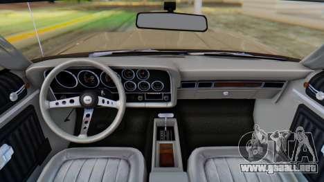 Ford Gran Torino Sport SportsRoof (63R) 1972 PJ2 para la visión correcta GTA San Andreas