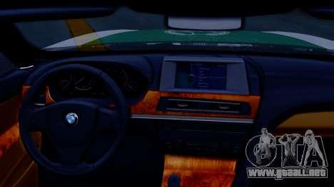 BMW M6 F13 Gran Coupe 2014 Dubai Police para la visión correcta GTA San Andreas