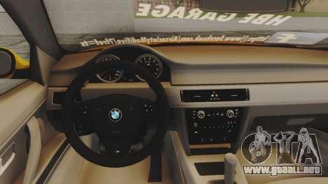 BMW M3 E90 para GTA San Andreas vista hacia atrás