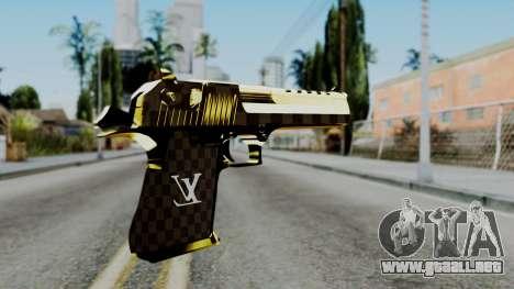 Deagle Louis Vuitton Version para GTA San Andreas segunda pantalla