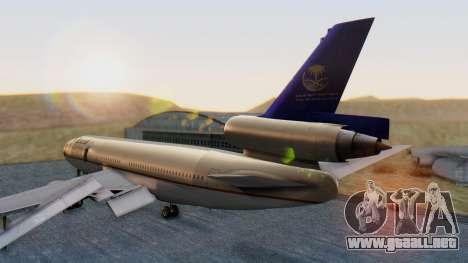 McDonnell-Douglas DC-10-30 Saudia para GTA San Andreas left