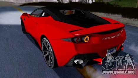 Arrinera Hussarya v2 Carbon para GTA San Andreas vista posterior izquierda