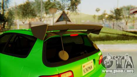 Honda Civic Vti 1994 V1.0 para GTA San Andreas interior