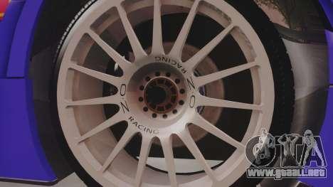 Audi A4 2008 DTM para GTA San Andreas vista hacia atrás
