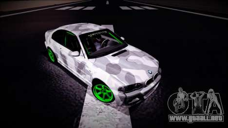 BMW M3 E46 Drift Monster Energy para la visión correcta GTA San Andreas