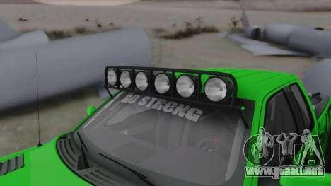 Ford F-150 SVT Raptor 2012 para visión interna GTA San Andreas