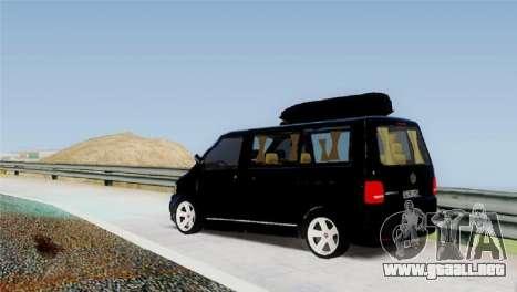 Volkswagen bus By.Snebes para GTA San Andreas vista posterior izquierda