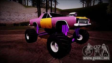 Picador Monster Truck para la visión correcta GTA San Andreas