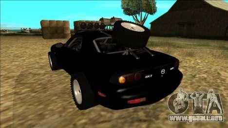 Mazda RX-7 Rusty Rebel para GTA San Andreas vista posterior izquierda