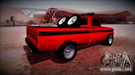 Chevrolet C10 Rusty Rebel para GTA San Andreas vista posterior izquierda