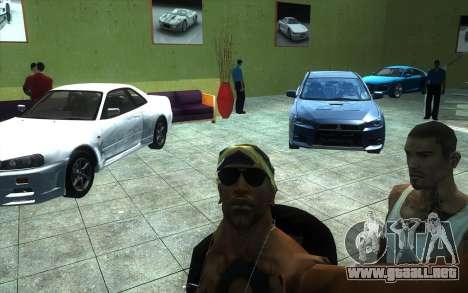 La reactivación de la concesionaria de automóvil para GTA San Andreas sucesivamente de pantalla