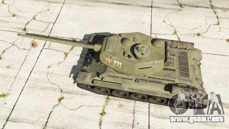 GTA 5 T-34-85 vista trasera