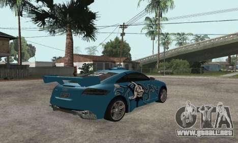 Audi TT-RS Tunable para visión interna GTA San Andreas