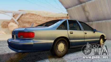 Chevrolet Caprice 1993 para la visión correcta GTA San Andreas