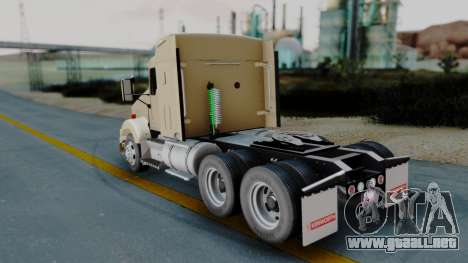 Kenworth T800 38s Flat Top para GTA San Andreas left