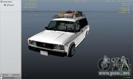 GTA 5 VAZ 2104 vista lateral derecha