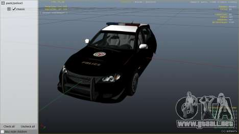 GTA 5 LAPD Subaru Impreza WRX STI vista lateral derecha