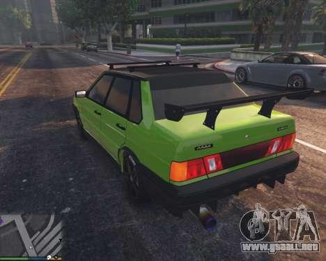 GTA 5 VAZ 2115 vista lateral izquierda trasera