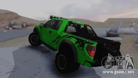 Ford F-150 SVT Raptor 2012 para GTA San Andreas left