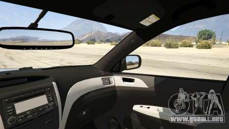 GTA 5 LAPD Subaru Impreza WRX STI vista lateral trasera derecha