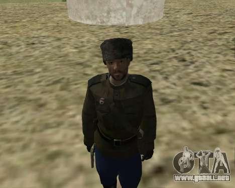 La colección de Soldados del ejército rojo para GTA San Andreas sucesivamente de pantalla