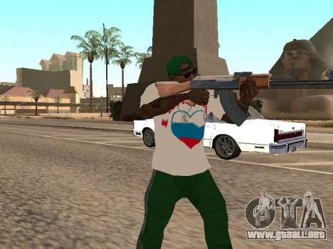 T-shirt amo Rusia para GTA San Andreas tercera pantalla