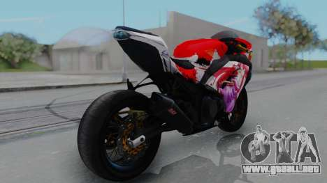 Kawasaki Ninja FI Custom Rias Gremory Itasha para GTA San Andreas left
